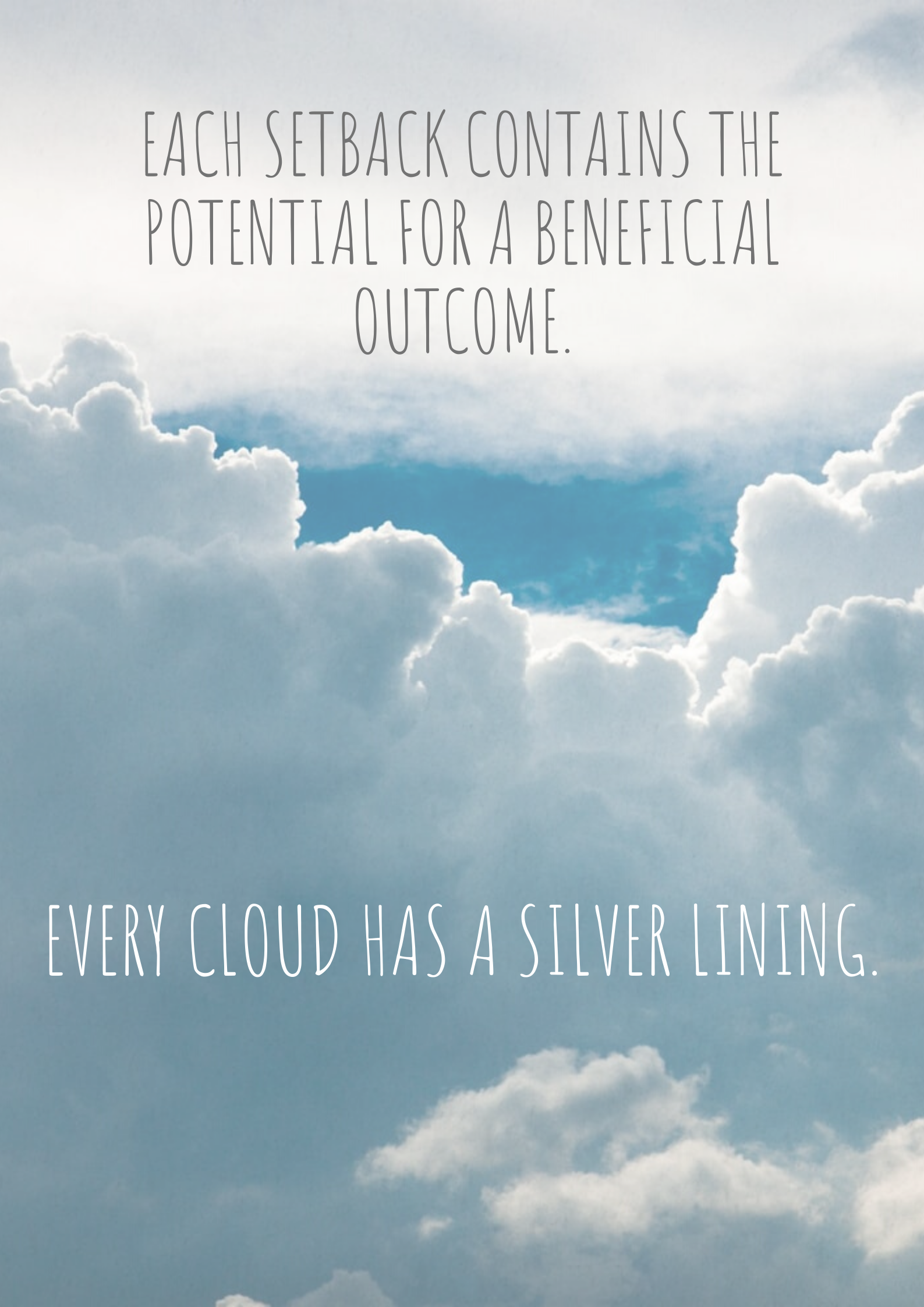 Silver lining graphic